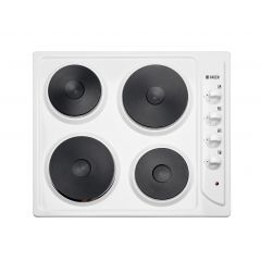 Haden HSP60W Electric Solid Plate Hob - White