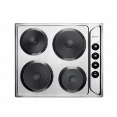 Haden HSP60X Electric Solid Plate Hob - Stainless Steel