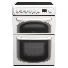 Hotpoint 60HEP 60cm Electric Double Oven Cooker + Ceramic Hob