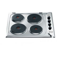Hotpoint E604.1X Solid Plate Hob - Stainless Steel