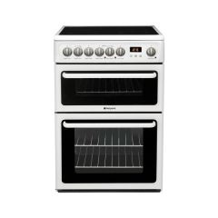 Hotpoint HAE60P 60cm Electric Double Oven Cooker + Ceramic Hob