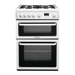 Hotpoint HAG60P 60cm Gas Double Oven Cooker