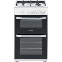 Hotpoint HD5G00KCW 50cm Twin Cavity Gas Cooker
