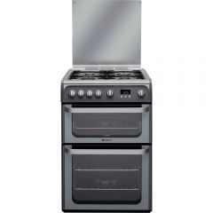 Hotpoint HUG61G 60Cm Gas Double Oven - Graphite