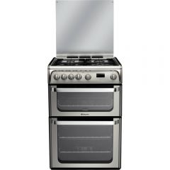 Hotpoint HUG61X Freestanding Gas Double Oven - Stainless stell
