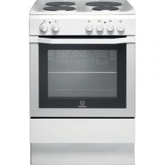 Indesit I6EVAW 60cm Electric Single Cooker with Sealed Plate Hob