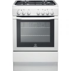 Indesit I6GG1W 60cm Single Cavity Gas cooker