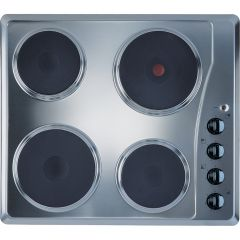 Indesit TI60X Electric Solid Plate Hob - Stainless Steel