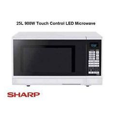 Sharp R372WM 25L Touch Control Microwave - White