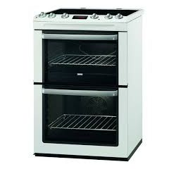 Zanussi ZCV667MWC 60cm Electric Double Oven Cooker + Ceramic Hob