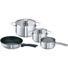 Bosch HEZ390042 High Quality Saucepans - Set Of 4 Pans For Induction Hobs