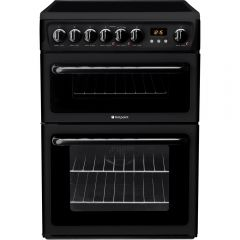 Hotpoint HAE60K 60Cm Electric Double Oven Cooker - Black