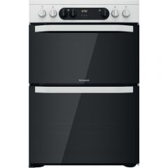 Hotpoint HDM67V9CMW 60Cm Electric Double Cooker - White