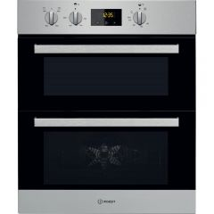 Indesit IDU6340IX Built-Under Double Oven - Stainlesss Steel